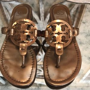 TORY BURCH MILLER COPPER  BRONZE PATENT SZ 6